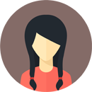 Flat faces icons circle woman 1