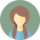 Flat faces icons circle woman 3