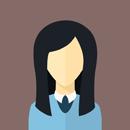 Flat faces icons circle woman 6