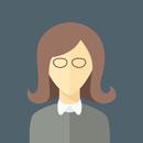 Flat faces icons circle woman 8