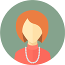 Flat faces icons circle woman 9